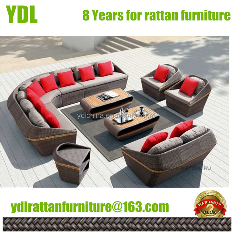 Hot Sale Morden Garden Sectional Sofa of Rattan Outdoor Furniture
