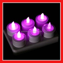 cheapest Plastic Flicking Rechargeable Led Candle For Holiday