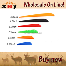 high quality 1.75, 2, 2.5, 3, 4, 5 inches TPU Plastic Arrow Vanes Fletching mixed colors