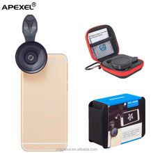 mobile phone detachable camera lens kit 2 in 1 Apexel universal clip 20x macro lens