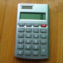 8 digit rectangle handheld calculator