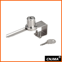 MS325 cylinder push lock for glass sholwcase