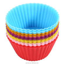 Silicone Cupcake Cases Round Shaped Cake Baking Molds Cup Set Kitchen Craft Tool Bakeware Pastry Tools Cake Mold