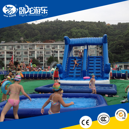 Plato PVC Material Inflatable Water Slide