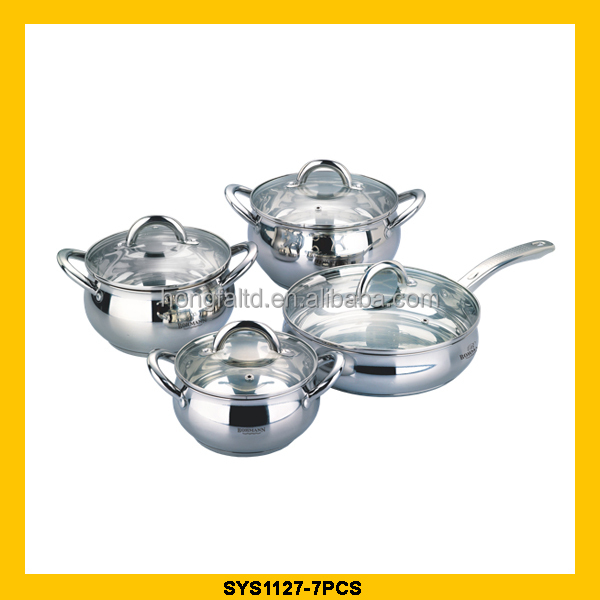 New design 7pc cookware set with great price