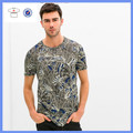 Men`s fashion short leaf 100 polyester t shirts/mens fashion t shirt/100 polyester round neck t shirt