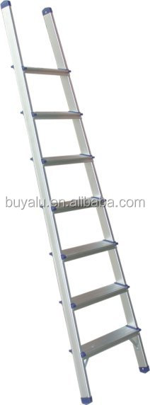 Hot sale aluminum straight ladder in Clear Anodized