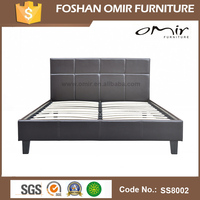 China factory direct sale low price bed frame,high quantity leather beds,king size bed frame SS8002
