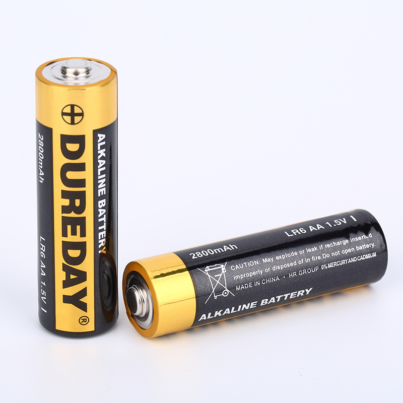 Long service lifespan 2800mAh 1.5V LR6 AA alkaline battery