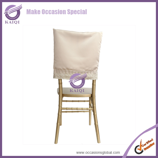 17922 Wedding Fancy satin half back chair covers