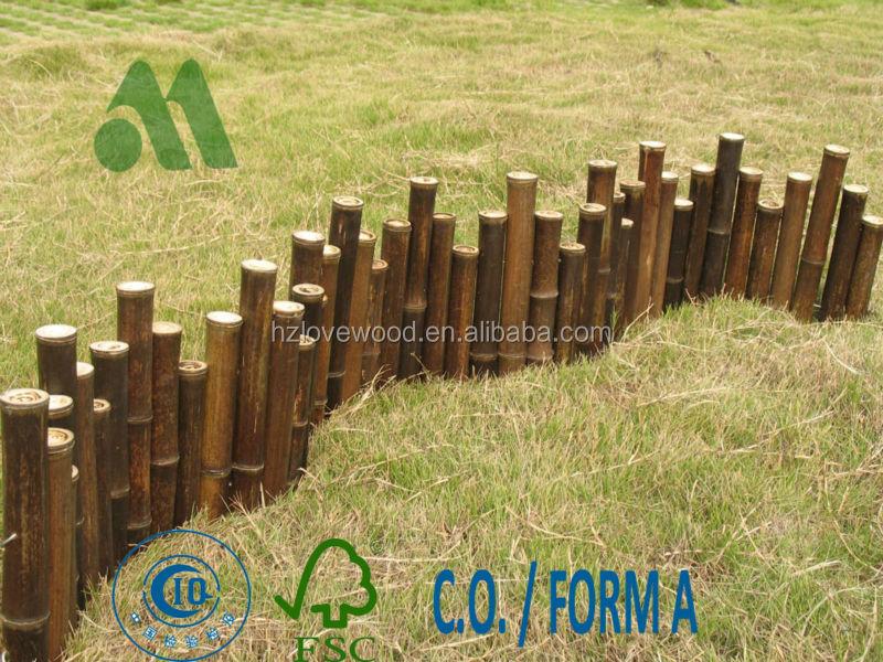 Bambou jardin bordure cl tures treillis et portails id de for Bordure de jardin en bambou