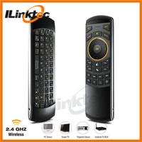 New Sale! Double side Wireless Air Mouse with Keyboard for Smart TV combo IR remote, Audio chat