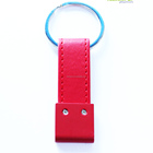 Classic black red top quality for women promotional leather keychain
