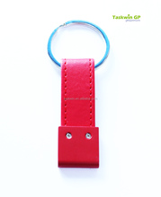 classic black & red top quality leather keychain for promotion