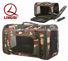 Portable cozy Wholesale Woodland Camouflage Pet Carrier Bag