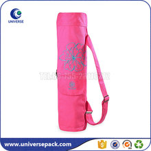 Custom Logo Round Bottom Canvas Yoga Mat Carry Bag With Shoulder Belt
