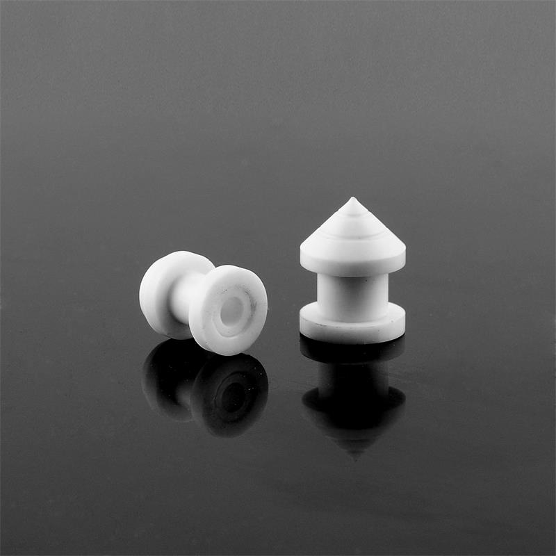 Hot sales piercing jewelry CNC white triangle acrylic ear plugs gauges wholesale