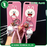 Unique products to sell cartoon character cell phone case for iphone 6s plus with ring holder for mobile phone with hand strap