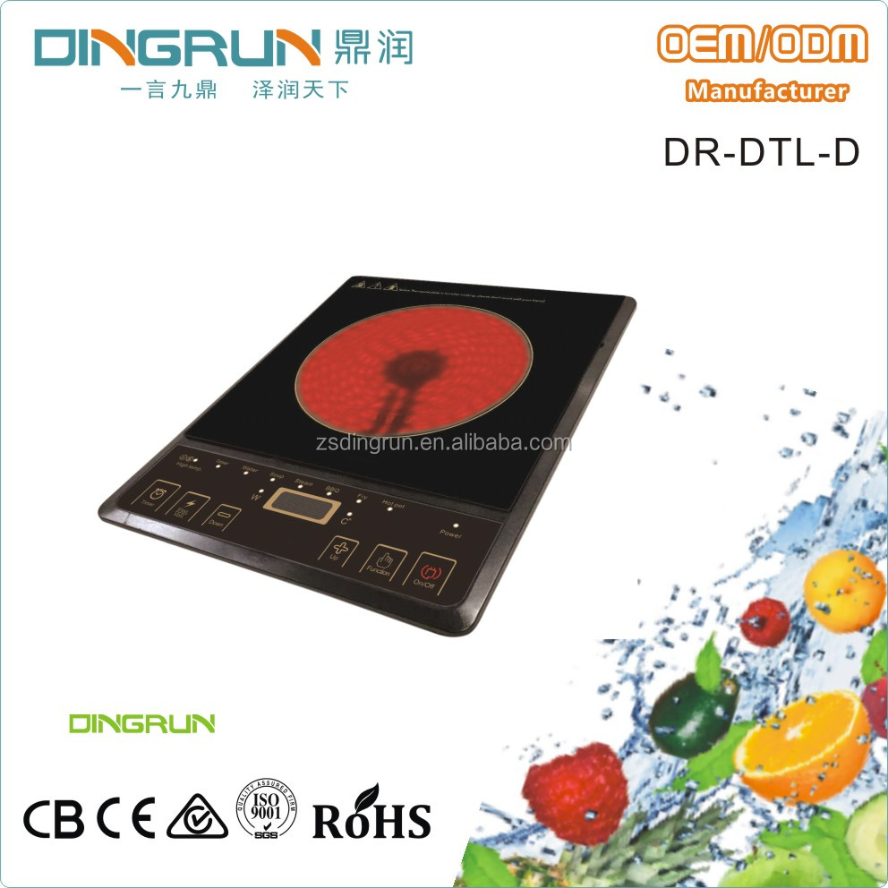 2000W big plate low price induction hob/ ceramic cooker DR-DTL-D