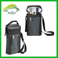 Advanced pvc black zipper cooler bag/ portable bottles wine cooler bag/beer can cooler backpack