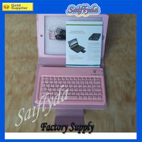For iPad Mini Bluetooth Keyboard with Folding PU Leather Case