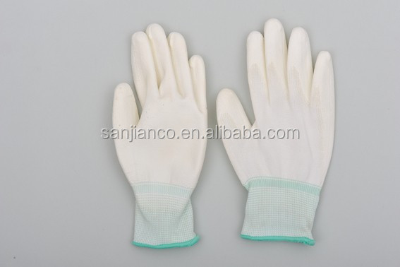 nylon liner with PU plam Coated glove
