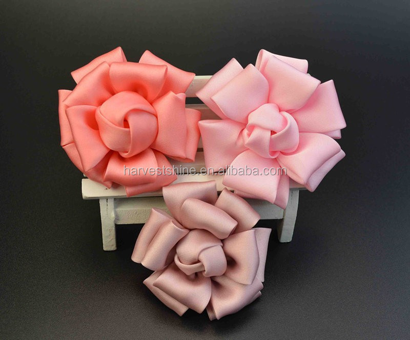 Hot Selling Layered silk flower for clothing,Soft Fabric Flower Garment Accessories