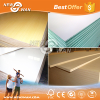 Plain / UV / Melamine MDF Board for Furniture Industry