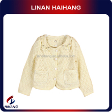 Hot sale oem beaded lace cardigan low price clothes for children