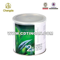 Decorative Round Tea Tin Boxes Wholesale With plastic lid