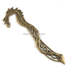 Bronze Dragon Plated Antique Metal Bookmarks