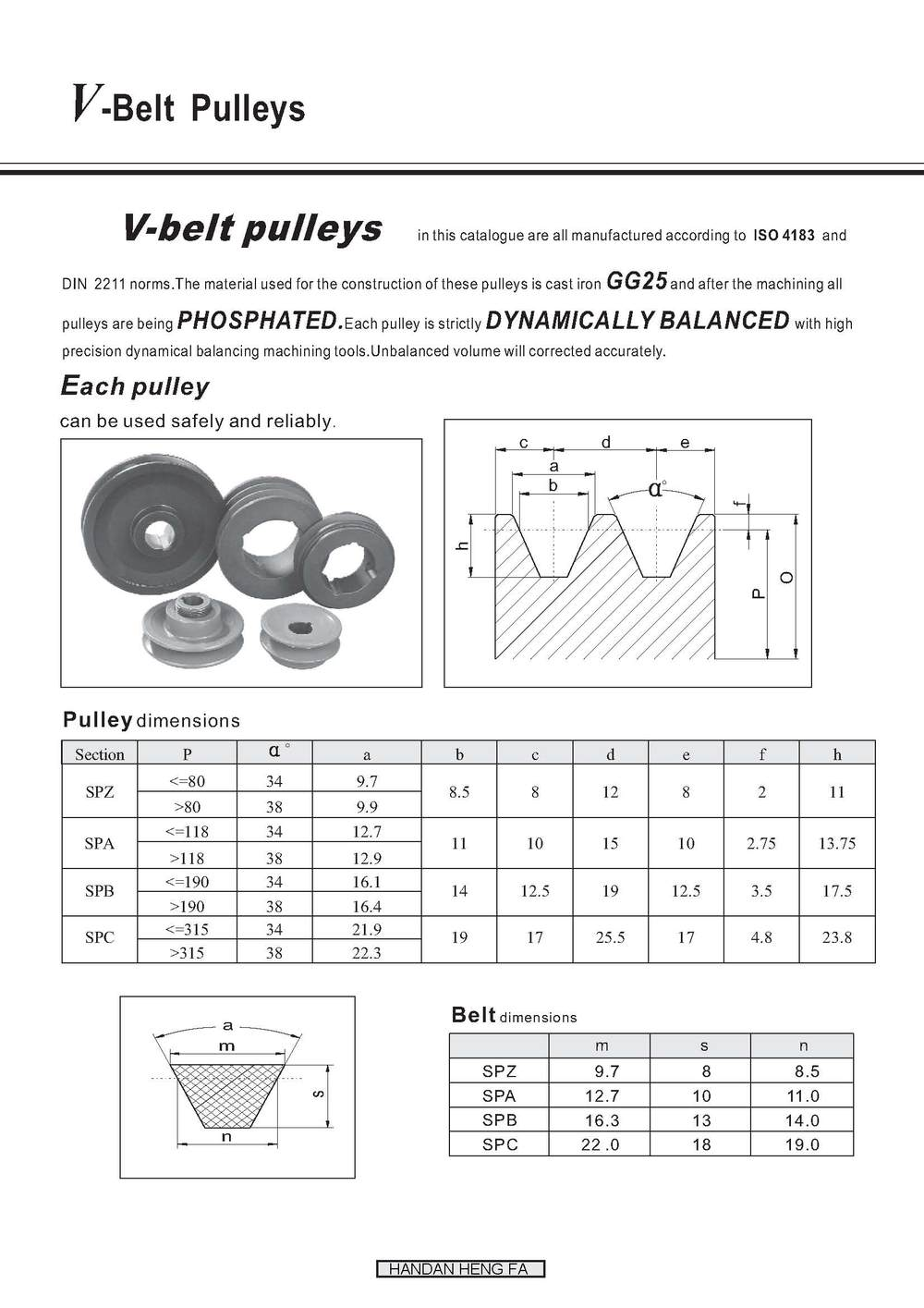 pulley taper lock v belt pulley