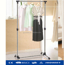 Stand adjustable rotating hanging clothes rack