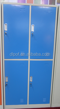 Factory Price KD Colorful 4 Doors Lockers For Changing Room/ 4 Doors Steel Almirah Steel Locker/ 4 Compartment Locker (DL-CL4)
