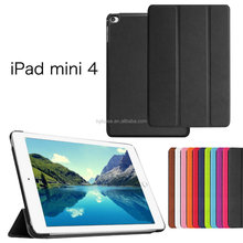 For ipad mini4 case cover smart cover, Ultra Thin Smart Stand Leather Case For ipad mini 4