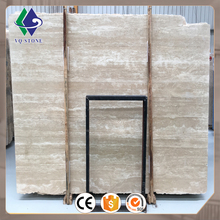 Factory price polished tile slab beige marble turkish travertine