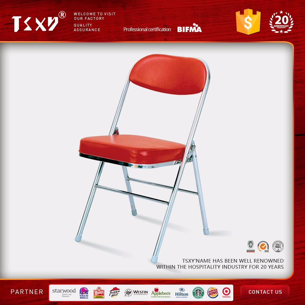 metal folding chair for restaurant