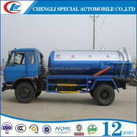 DONGFENG 4x2 6CBM Sewage Tank Truck 6M3 Vacuum Tanker Truck 6000L Sewer Suction Truck For Sale