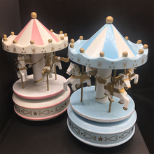 Custom Dancing Horse Plastic Carousel Music Box For Kids