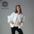 Women jacket white jacket cool bomber jacket simple style spring cotton jacket