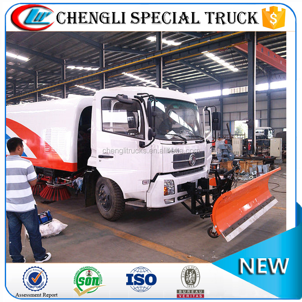 China Dongfeng 4x2 Heavy Duty 10m3 10000 liter Snow Shovel Truck for Street Cleaning