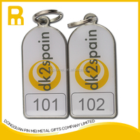 Best selling embossed zinc alloy key chain with custom logo