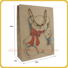 Animal printing carton paper bag for doll packaging wholesale