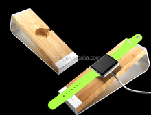 Exquisite wood Style For apple watch Stand Wood Charging Stand,Docking Cradle Station Charger Holder for apple watch