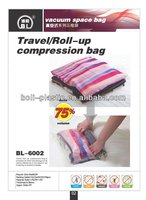 50x60CM PET+PA 6MM travel/roll-up Vacuum compressed bag