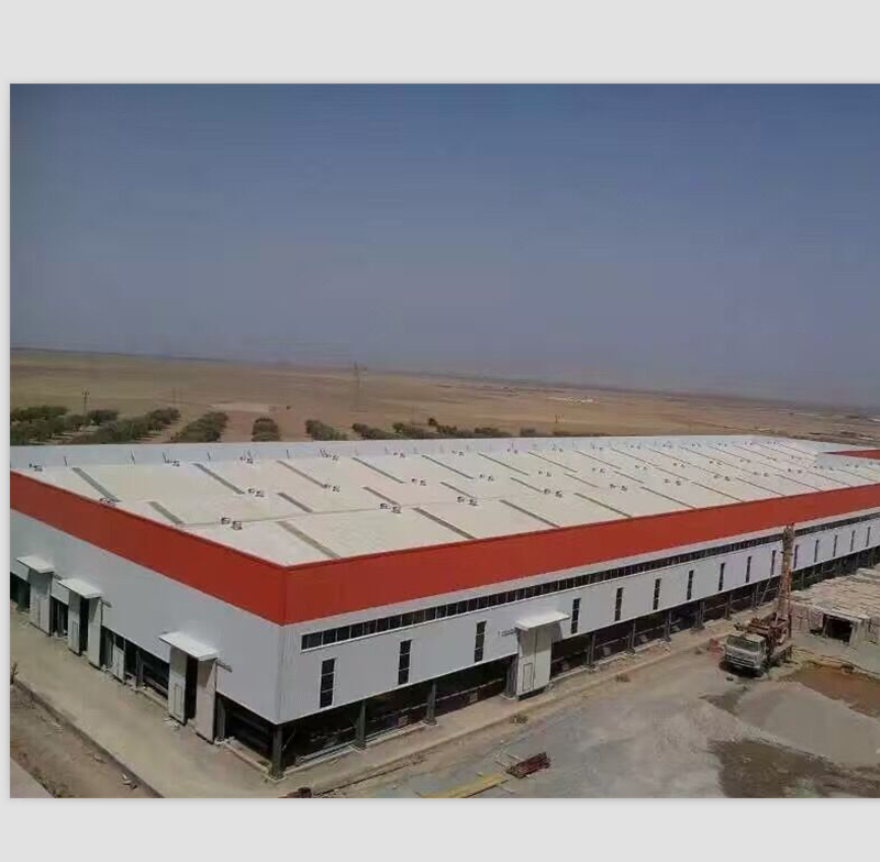 prefabricated steel structure car showroom/steel building projects