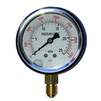 High accuracy 304 stainless steel case brass Helical type bourdon tube high pressure gauge 25MPa