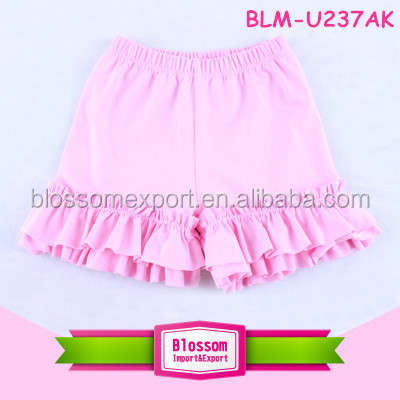 2016 Newest popular Baby Girls Short multicolor plain ruffle short healthy wholesale baby short