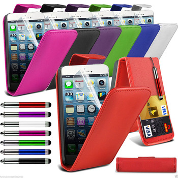 Top Flip Quality PU Leather Phone Case Skin Cover for Apple Phones
