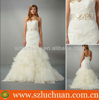 Elegant Off Shoulder Beaded Lace Mermaid Tulle Wedding Dresses South Africa